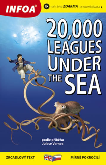 20 000 mil pod mořem / 20 000 Leagues Under the Sea - Zrcadlová četba - Verne Jules