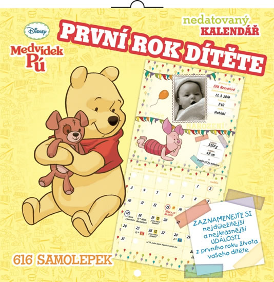 Kalendář - W. Disney Medvídek Pú - první rok dítěte - nedatovaný - neuveden