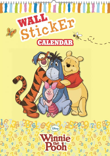 Kalendář - W. Disney Medvídek Pú - kalendář se samolepkami na zeď - nedatovaný - neuveden