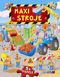 Maxi stroje - 5x puzzle