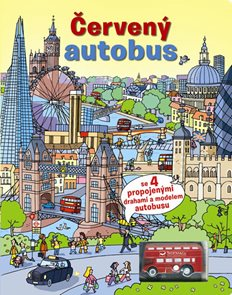 Červený autobus + model autobusu