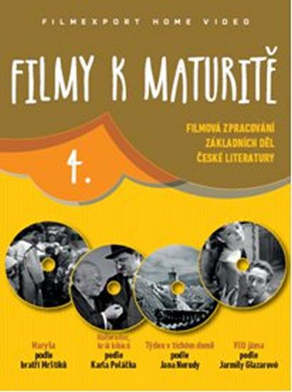 Filmy k maturitě 4 - 4 DVD (digisleeve) - neuveden - 14x19 cm