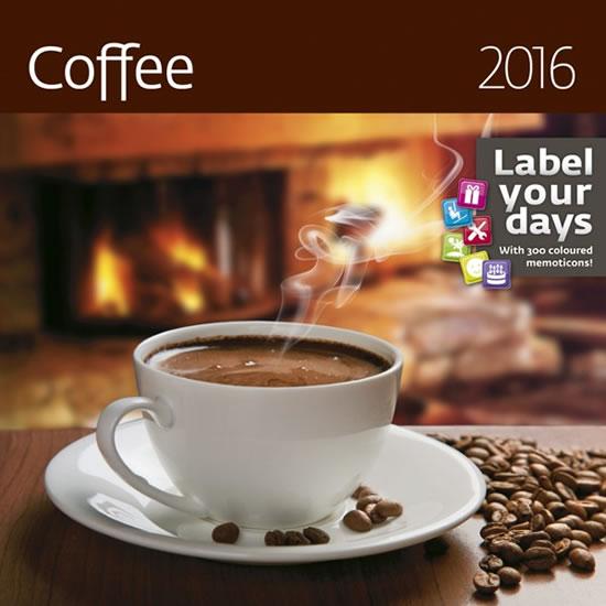 Kalendář nástěnný 2016 - Coffee - neuveden - 30x30 cm