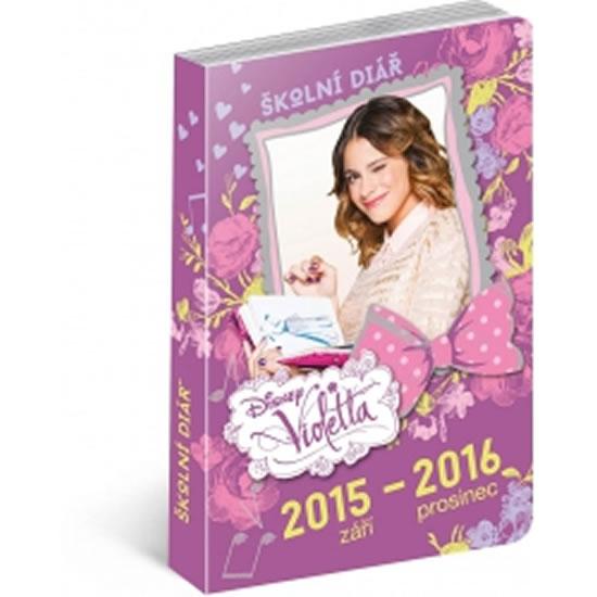 Diář 2016 - Violetta, školní diář, září 2015 - prosinec 2016 - neuveden