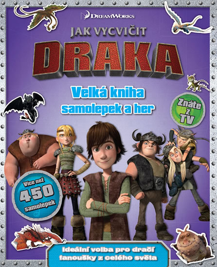 Jak vycvičit draka - Velká kniha samolepek a her - neuveden