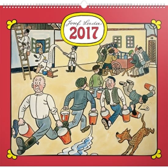 Kalendář nástěnný 2017 - Josef Lada/Na vsi - neuveden
