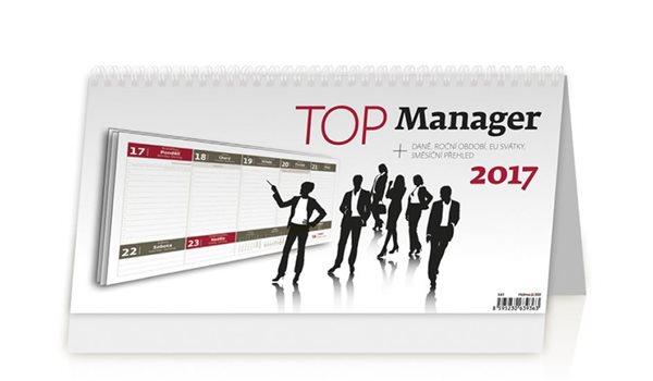 Kalendář stolní 2017 - Top Manager - neuveden - 32x16 cm