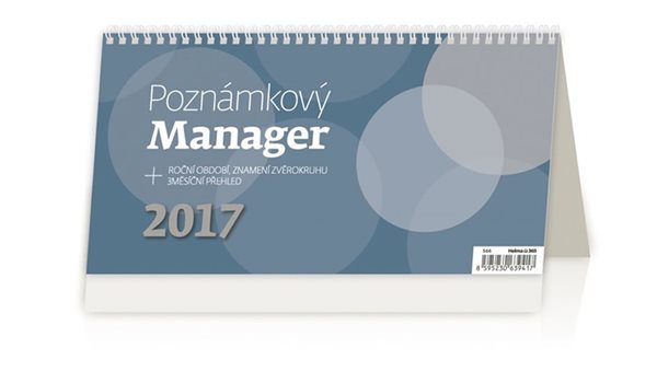 Kalendář stolní 2017 - Poznámkový/Manager - neuveden - 246x130 mm
