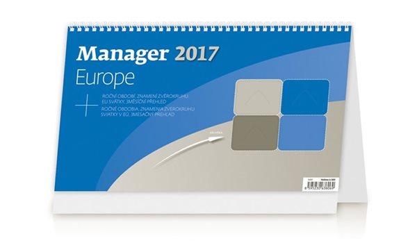 Kalendář stolní 2017 - Manager/Europe - neuveden - 30x18 cm