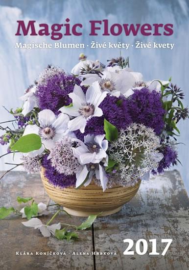 Živé květy kalendář nástěnný 2017 - neuveden - 31,5x45 cm