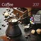 """Kalendář nástěnný 2017 """"label your days"""" - Coffee"""