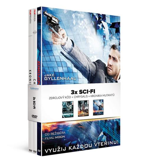 3x DVD Sci-fi/ Zdrojový kód + Chrysalis + Kronika mutantů - neuveden