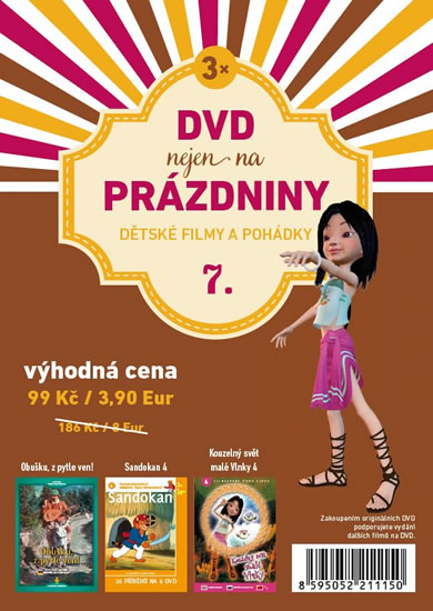 DVD nejen na Prázdniny 7. - Dětské filmy a pohádky - 3 DVD - neuveden