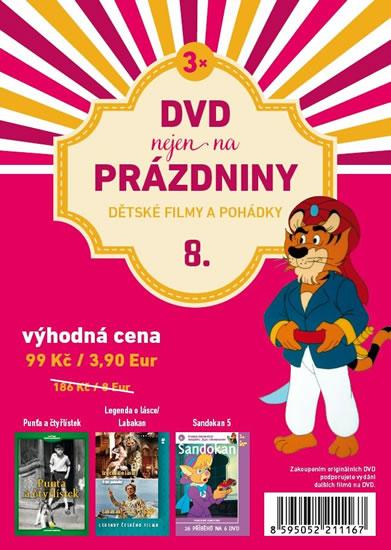 DVD nejen na Prázdniny 8. - Dětské filmy a pohádky - 3 DVD - neuveden