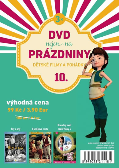 DVD nejen na Prázdniny 10. - Dětské filmy a pohádky - 3 DVD - neuveden