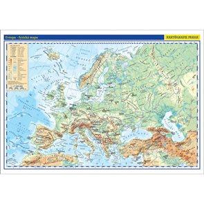 Evropa - příruční fyzická/politická mapa 1:17 mil./42x29,7 cm