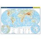 Svět - příruční fyzická a politická mapa 1:85 mil./42x29,7 cm