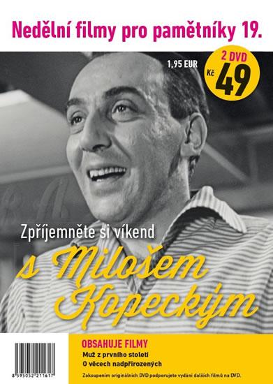 Nedělní filmy pro pamětníky 19. - Miloš Kopecký - 2 DVD pošetka - neuveden