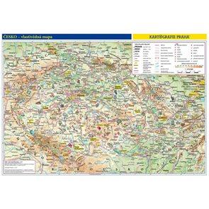 Česká republika - školní nástěnná vlastivědná mapa 1:375 tis.