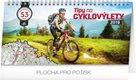 Kalendář stolní 2019  - Tipy na cyklovýlety, 30 x 16 cm