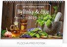 Kalendář stolní 2019  - Bylinky a čaje, 23,1 x 14,5 cm