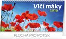 Kalendář stolní 2019  - Vlčí máky řádkový, 25 x 12,5 cm