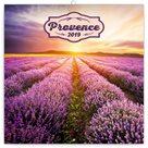 Kalendář poznámkový 2019 - Provence , voňavý, 30 x 30 cm