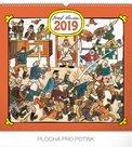 Kalendář nástěnný 2019 - Josef Lada – Hostinec, 48 x 46 cm