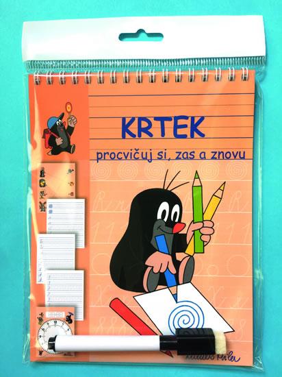 Krtek - Stíratelné listy A5 s popisovačem - Procvičuj si, zas a znovu - Miler Zdeněk