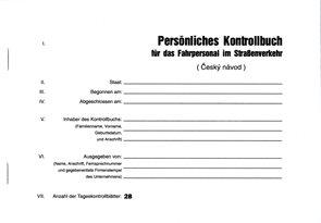 Persnliches Kontrollbuch für das Fahrpersonal im Strabenverkehr