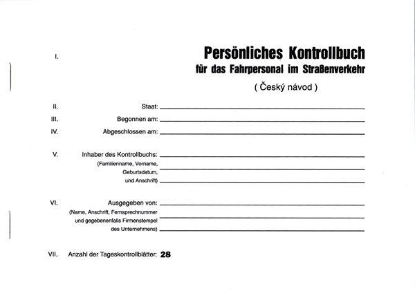 Persnliches Kontrollbuch für das Fahrpersonal im Strabenverkehr - A5, 32 stran