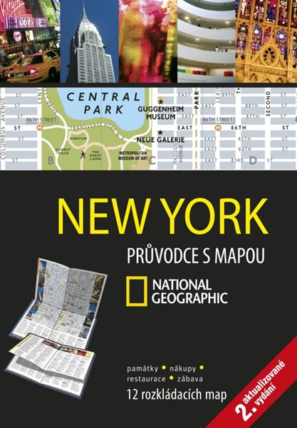 New York Průvodce s mapou National Geographic - 12x17 cm