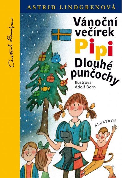 Vánoční večírek Pipi Dlouhé punčochy - Astrid Lindgrenová, Adolf Born - 16x24
