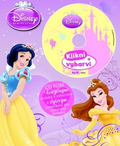 Disney Princezny Omalovánka s CD