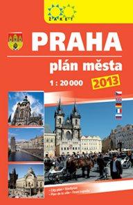 Praha plán města 1: 20 000