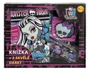 Kufřík Monster High Knížka + 2 skvělé dárky
