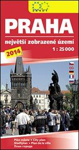 Praha největší zobrazené území 2014 1:25 000