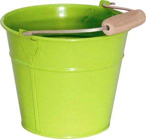 Zahradní kbelík sv. zelený - kovový - světle zelený /v.13,5 cm/