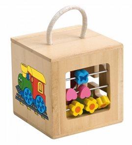 Vkládací krabička s počítadlem a labyrintem s motivem mašinka - Woody