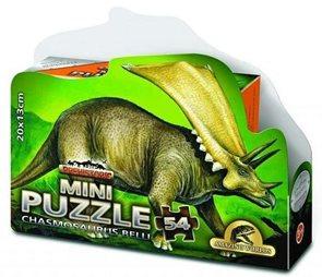 Puzzle Mini 54 dílků v krabičce - Prehistoric - Chasmosaurus