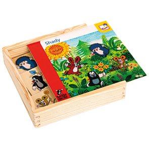 Co kam patří, stíny, Krtek v dřevěné krabičce