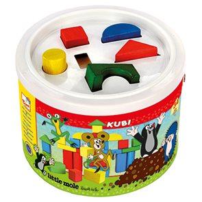 Kostky v kbelíku Krtek (34 kostek)