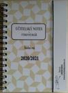Učitelský notes a týdenní diář - hnědý, kroužková vazba 2021/22