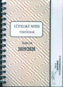 Učitelský notes a týdenní diář - hnědý, kroužková vazba 2019/20