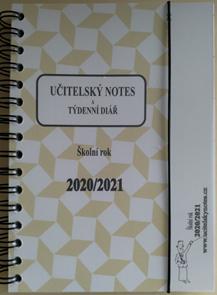 Učitelský notes a týdenní diář - hnědý, kroužková vazba 2020/21