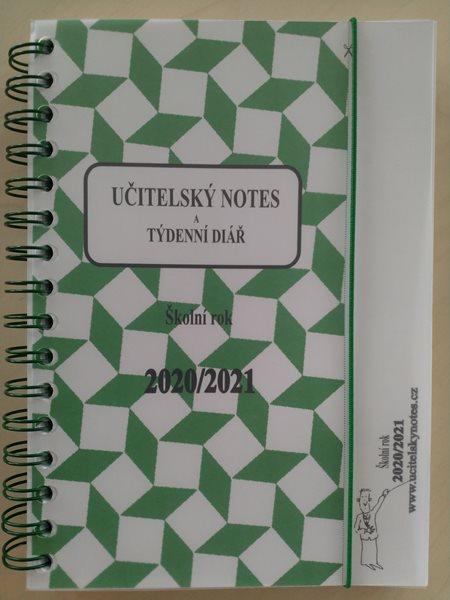 Učitelský notes a týdenní diář - zelený, kroužková vazba 2017/18 - A5