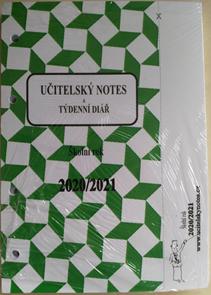 Učitelský notes - zelený, kroužková vazba