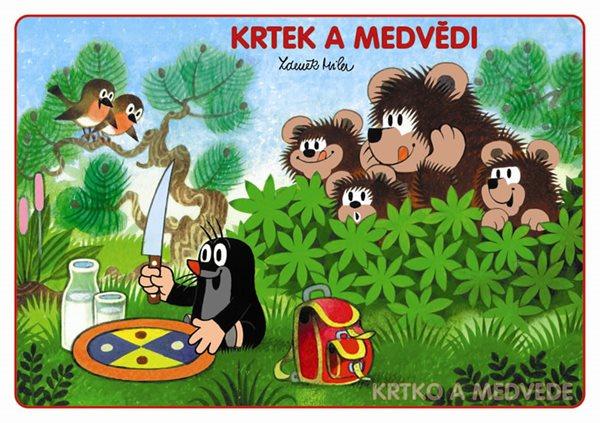 Krtek a medvědi - Omalovánky A5 - Miler Zdeněk - 15x21