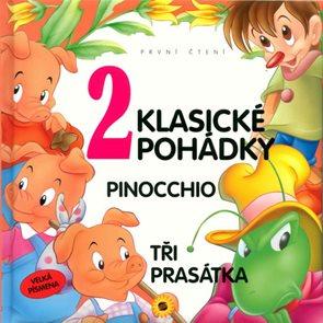 2 klasické pohádky - První čtení - Velká písmena (Pinocchio, Tři prasátka)
