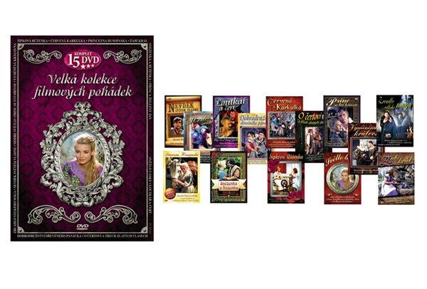 Velká kolekce filmových pohádek - 15DVD - neuveden - 13,8x19,2